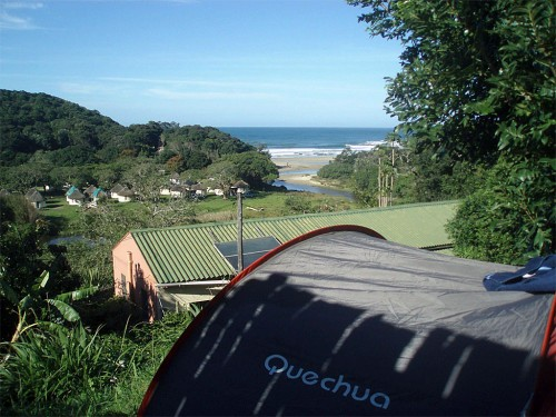 Amapondo Camp site view